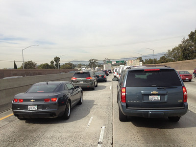 Gotta love LA traffic...