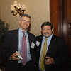 Scott Beach (J.D. '93), partner, Day Pitney LLP, and Jim Zurlo with Concept Capital Markets, LLC chat during the post-event reception.