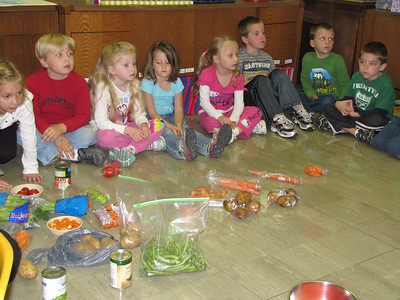 Kindergarten soup making