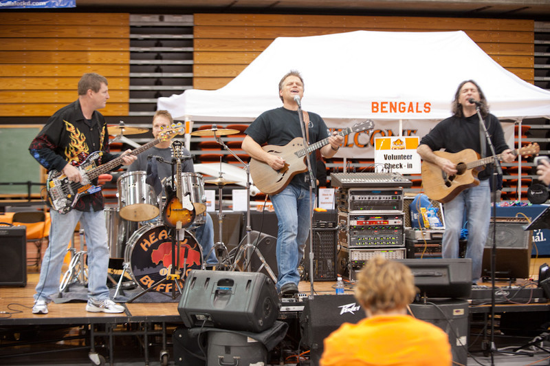 Band performing at the 2011 Homecoming tailgate party.
