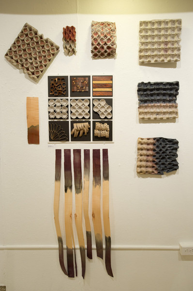 Combined Fiber Design and Interior Design student show in Czurles-Nelson Gallery.