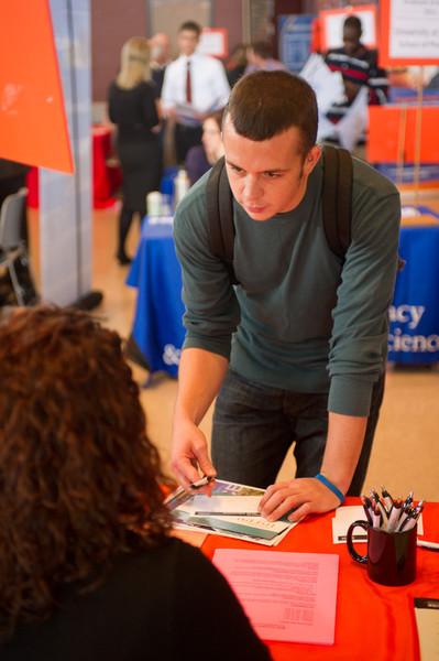 2011 Graduate School Fair hosted by the Career Development Center.