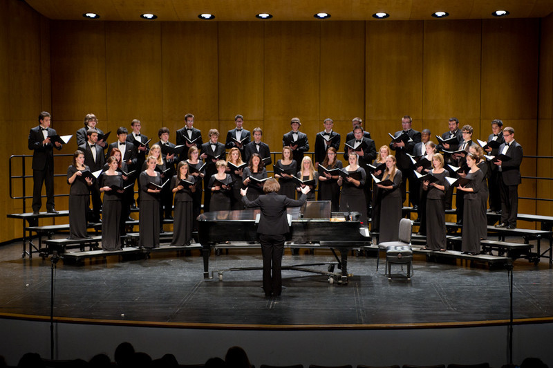 Buffalo State Chamber Choir performing at Rockwell Hall.