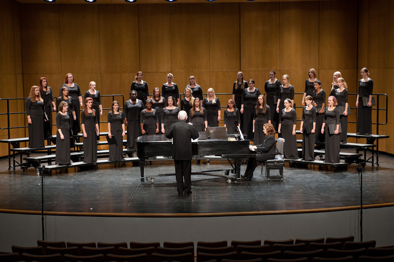 Buffalo State Women's Chorus performing at Rockwell Hall.