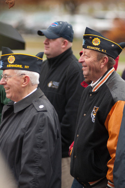 Silent march commemorating Veteran's Day.