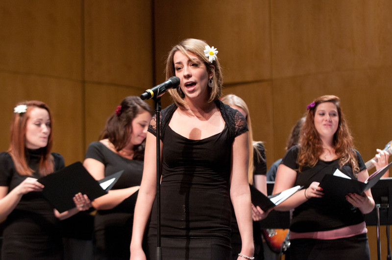 The Music Department Evening of Vocal Jazz, directed by Victoria Furby.