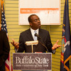 Mayor Byron Brown speaking at the opening of the Buffalo State College Community Academic Center.