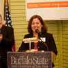 Tamara Alsace speaking at the opening of the Buffalo State College Community Academic Center.