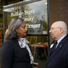 Ribbon cutting for the Buffalo State College Community Academic Center.