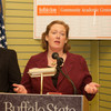 Molly Short speaking at the opening of the Buffalo State College Community Academic Center.