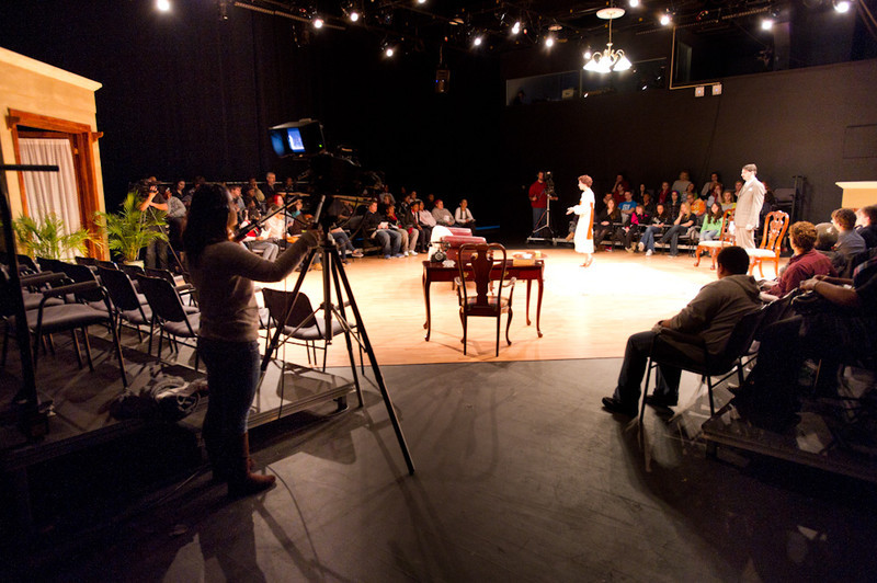 "Instructional Resources Television covering Theater production of ""Stepmother."""