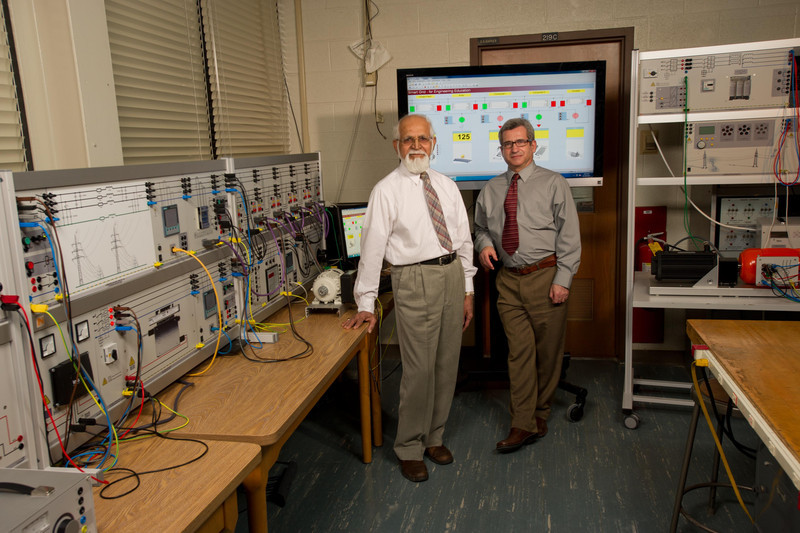 Joint Buffalo State and University at Buffalo electrical engineering lab at Buffalo State College.