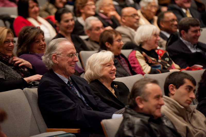 Memorial service for Hank Mann at Rockwell Performing Arts Center.