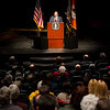 2011 State of the College Address by President Aaron Podolefsky in Warren Enters Theater.