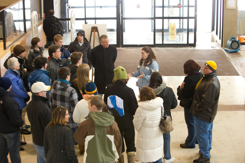 Admissions parent and student class visits.