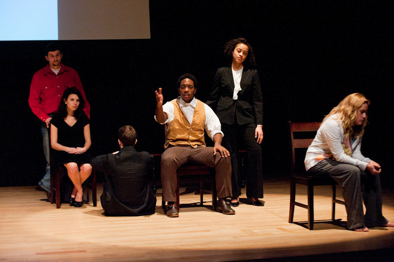 "Student Theater production of ""The Exonerated."""