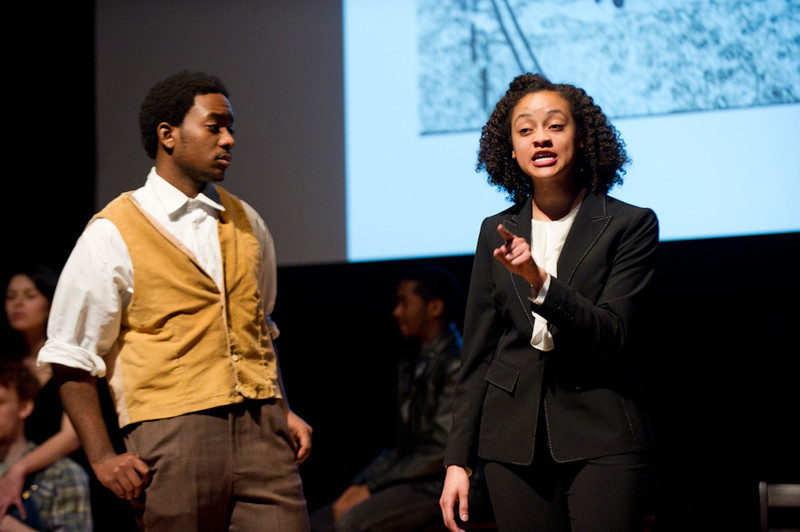 """Student Theater production of """"The Exonerated."""""""