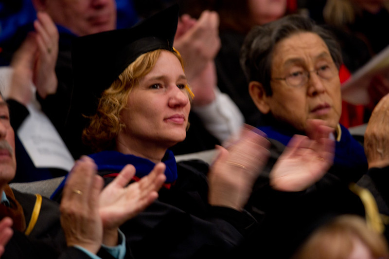 2011 Academic Honors Convocation in Rockwell Hall.