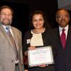 Student leadership awards ceremony in Burchfield-Penney auditorium.