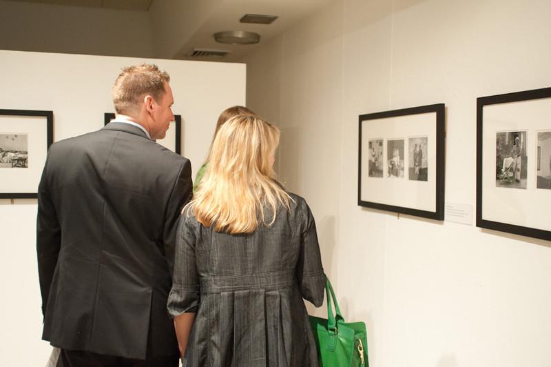 Memorial service for Buffalo photographer Milton Rogovin held in Upton Hall.