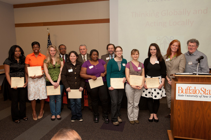 Volunteer and Service Learning awards ceremony.