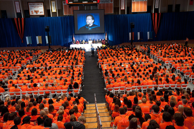 2010 Freshman Convocation held in the Buffalo State College Sports Arena.