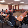Students meeting with American Bar Association (ABA) President and Buffalo State College Alumni, Carolyn Lamm.