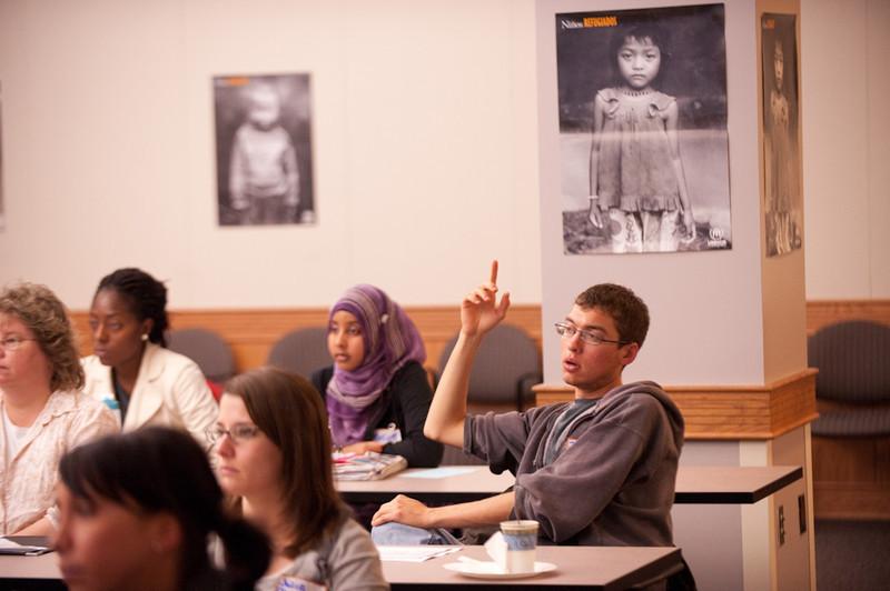 English language proficiency lecture during Refugee Awareness Week.