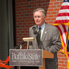 Ribbon cutting for new student apartment complex.