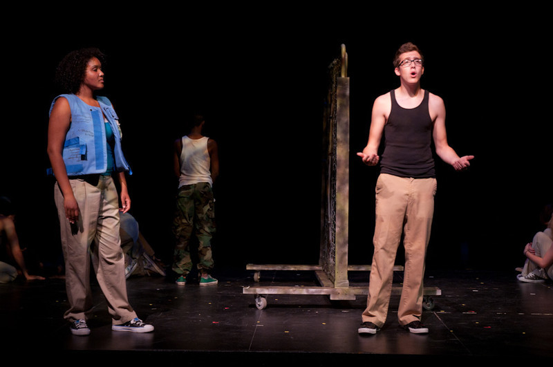 The Theater production of i'm not leaving the story of Carl Wilkens.