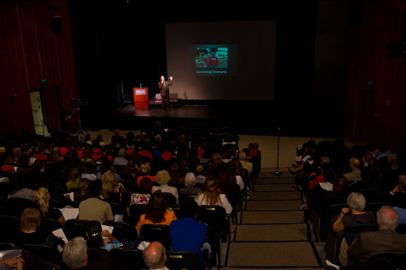Professor Drew Kahn presenting opening remarks to the 2011 Anne Frank Project.