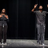Ntare Ali Gault and Erika Haygood of the Njozi Poets perform at the 2011 Anne Frank Project at Buffalo State College.