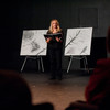 Professor Candace Masters speaks at the 2011 Anne Frank Project at Buffalo State College.