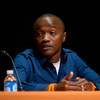Rwanda genocide survivor Victor Habinshuti speaks at the 2011 Anne Frank Project at Buffalo State College.