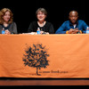 Victor Habinshuti, Deborah Renzi and Michele Ninacs speak at the 2011 Anne Frank Project at Buffalo State College.