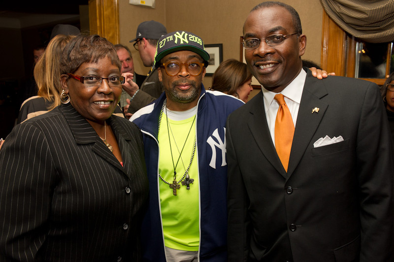 Campus House reception for Spike Lee  prior to talk at Rockwell Hall.