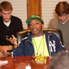 Movie director Spike Lee meets with Television and Film Arts students.