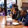 Author, professor and social activist Victor Villanueva speaking at Buffalo State College.