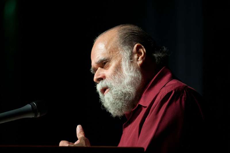 Author, professor and social activist Victor Villanueva speaking at Buffalo State College.