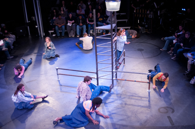 "Theater production of ""Working""."