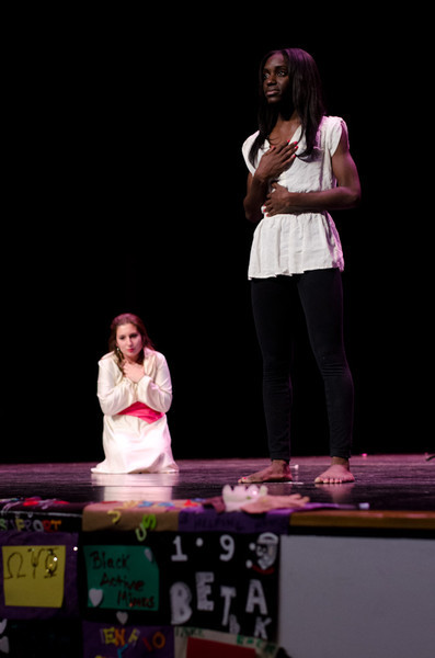 Buffalo State students creating awareness for sexual asault and domestic violence.