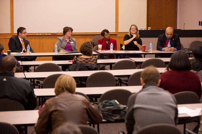 Higher Education and Student Affairs Administration panel discussion at Buffalo State.