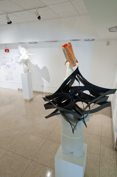 Interior Design student show in the Czurles-Nelson Gallery at Buffalo State.