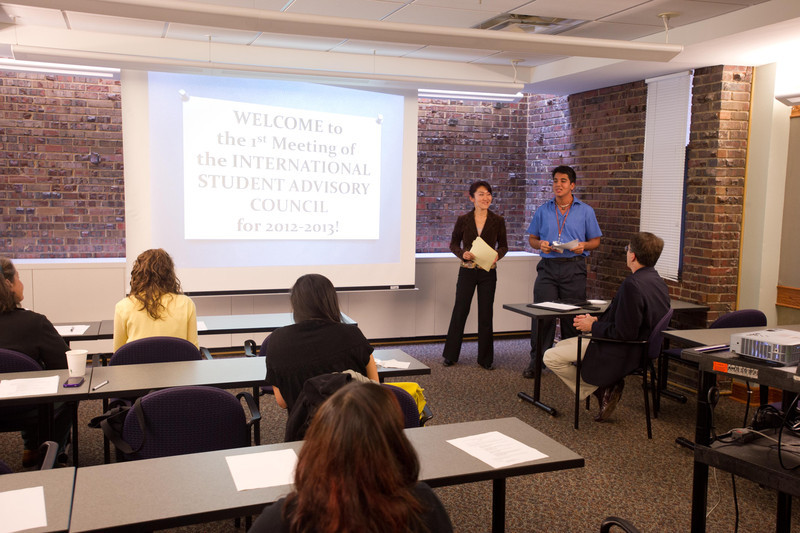 International Student Advisory Council presentations.