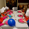 Children from Child Care Center decorating cupcakes at Buffalo State Dining.