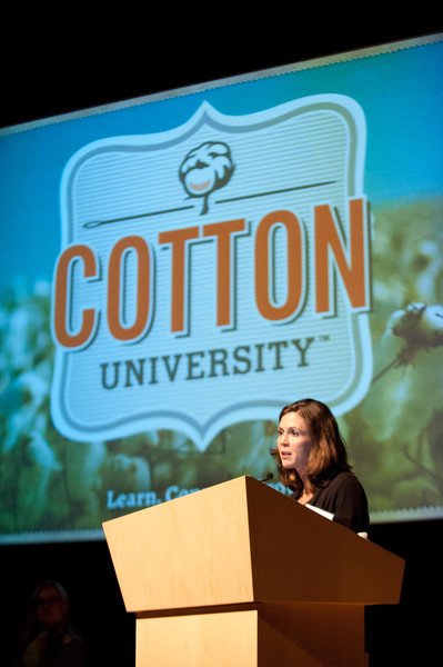 Panel discussion with fashion industry representatives during Fashion Technology's Cotton Symposium.