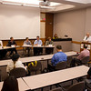 Panel discussion with WBNY student radio alumni during WBNY alumni reunion.