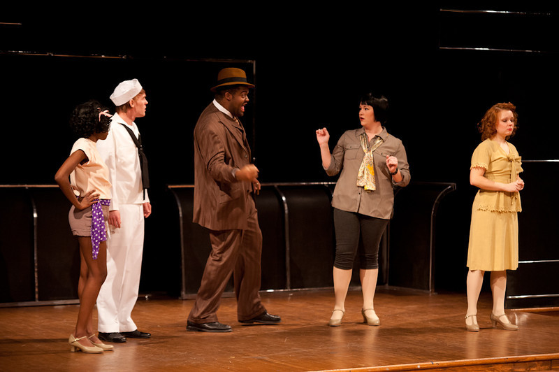Theater production of Dames at Sea.