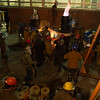 Iron pour during Nor'easter Conference at Buffalo State.