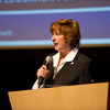 Dean Wendy Patterson introducing Buffalo Public School Superintendent Pamela Brown at Buffalo State.